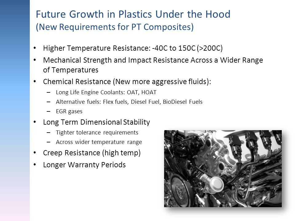 Future Growth in Plastics Under the Hood (New Requirements for PT Composites)