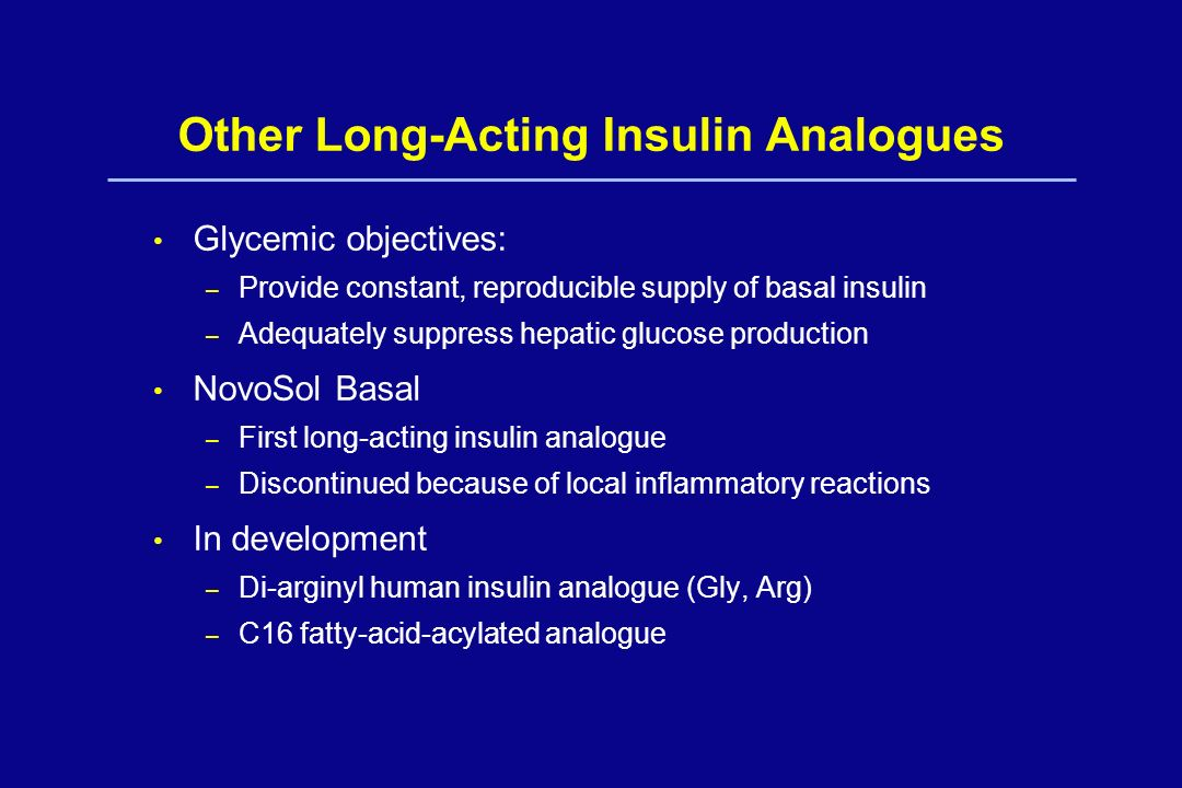 Other Long-Acting Insulin Analogues