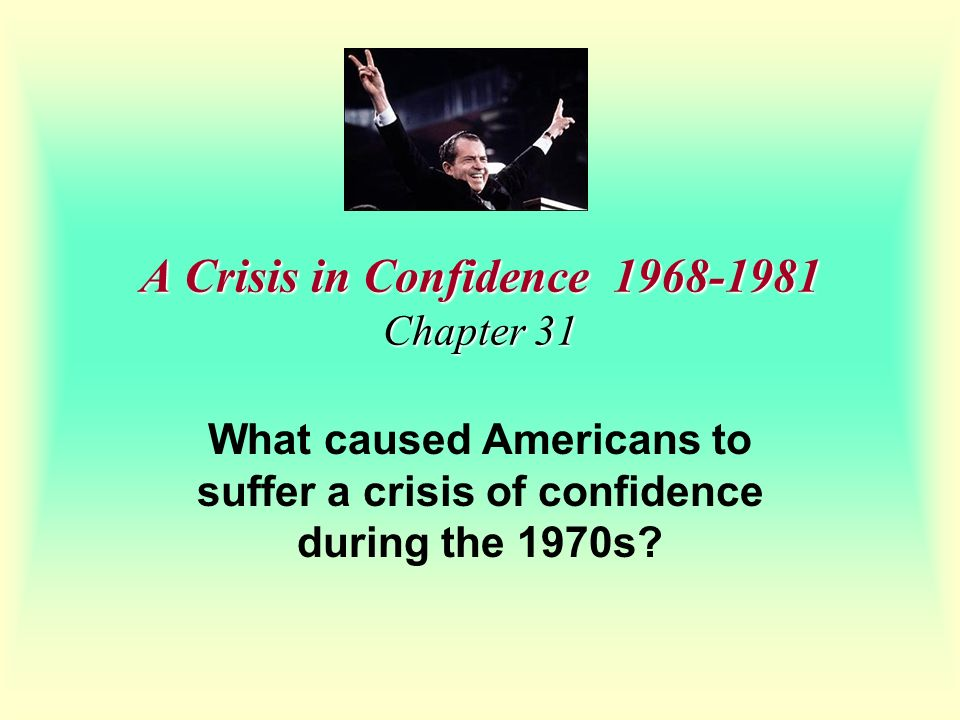 A Crisis in Confidence Chapter 31