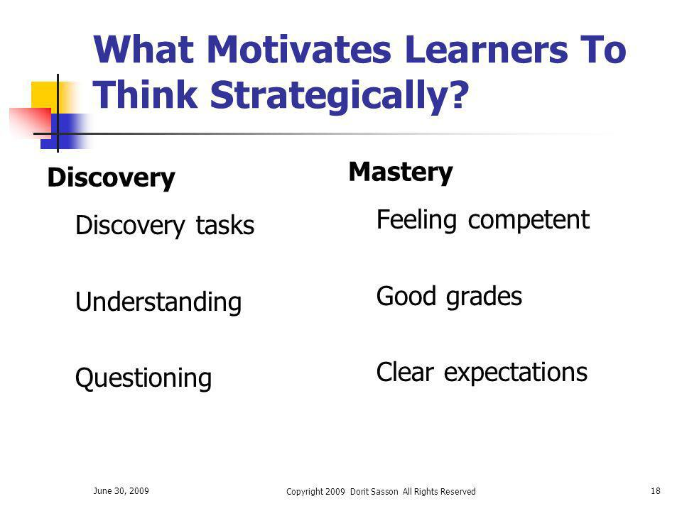 What Motivates Learners To Think Strategically
