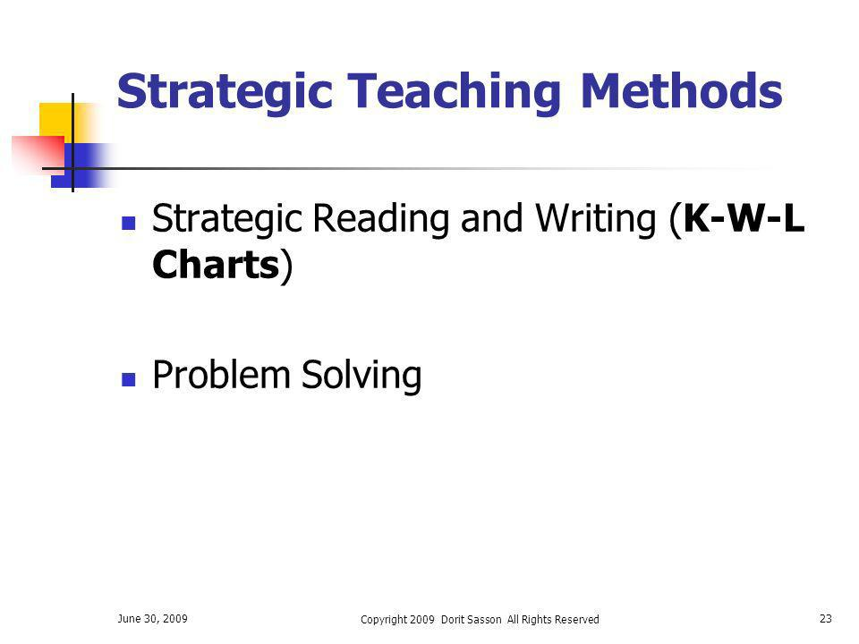 Strategic Teaching Methods