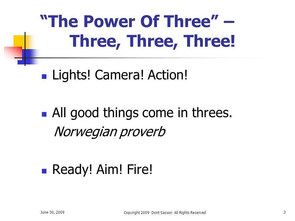 The Power Of Three – Three, Three, Three!