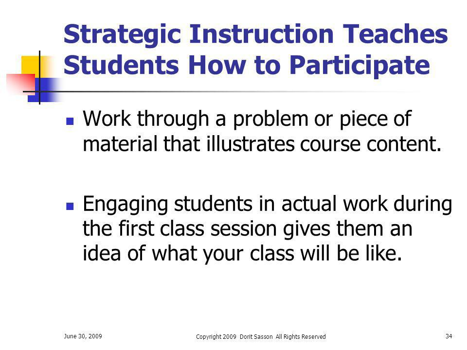 Strategic Instruction Teaches Students How to Participate