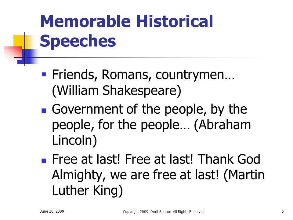 Memorable Historical Speeches