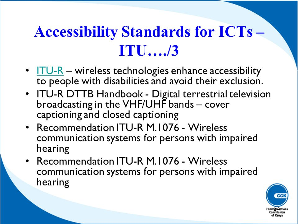 Accessibility Standards for ICTs – ITU…./3