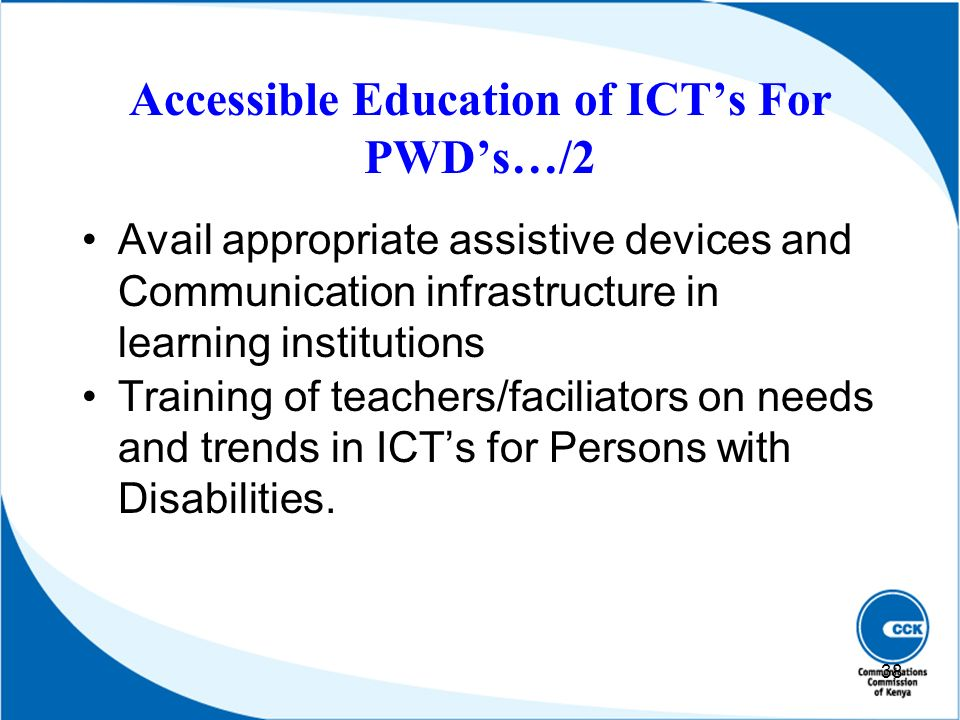 Accessible Education of ICT's For PWD's…/2