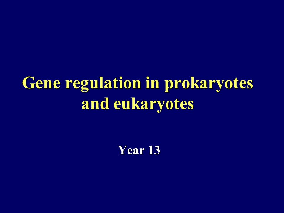 Gene regulation in prokaryotes and eukaryotes