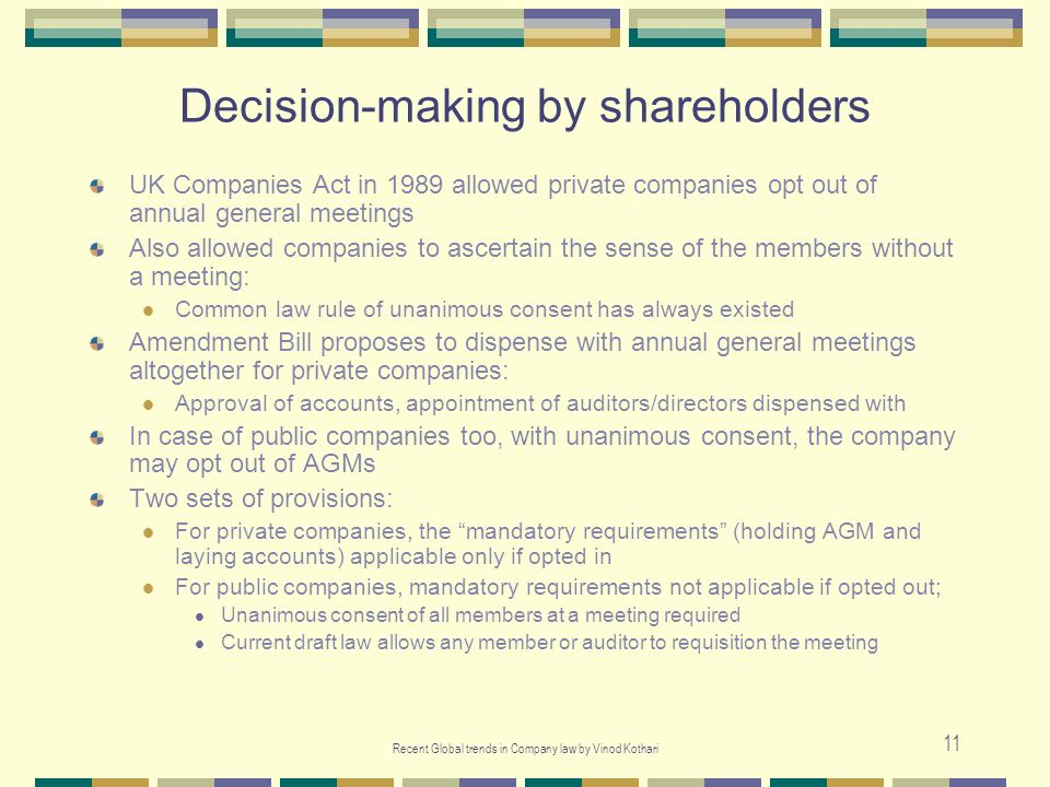 Decision-making by shareholders