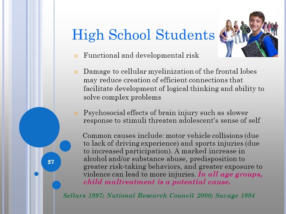 High School Students Functional and developmental risk