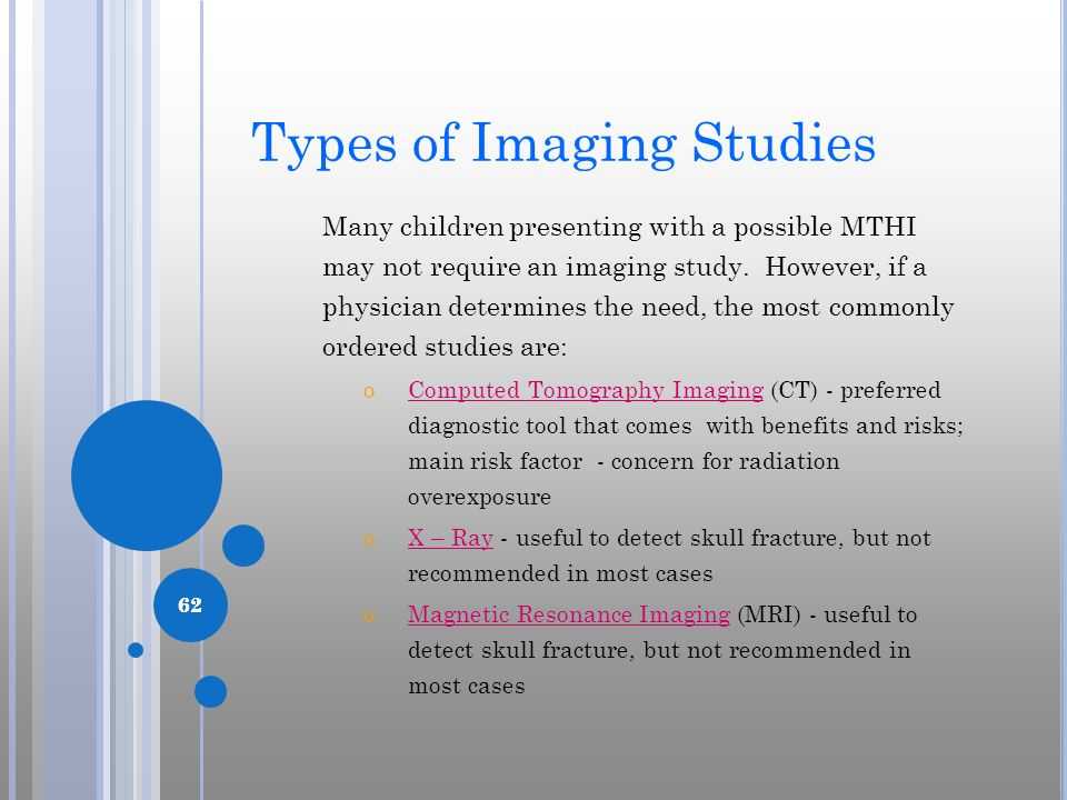 Types of Imaging Studies