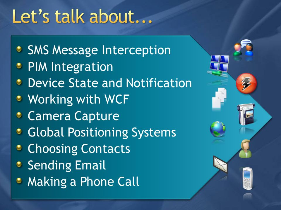 Let's talk about... SMS Message Interception PIM Integration