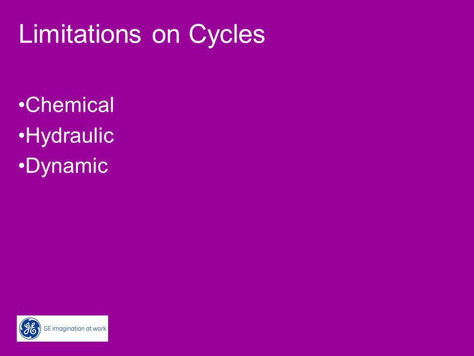 Limitations on Cycles Chemical Hydraulic Dynamic
