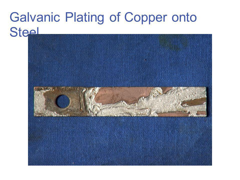 Galvanic Plating of Copper onto Steel