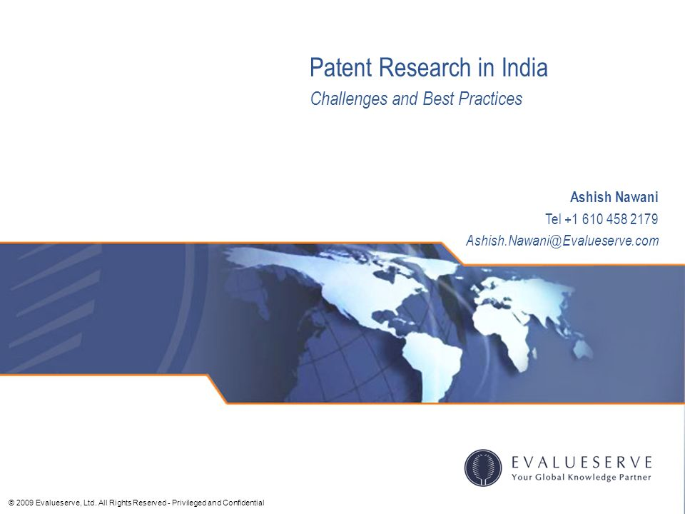 Patent Research in India