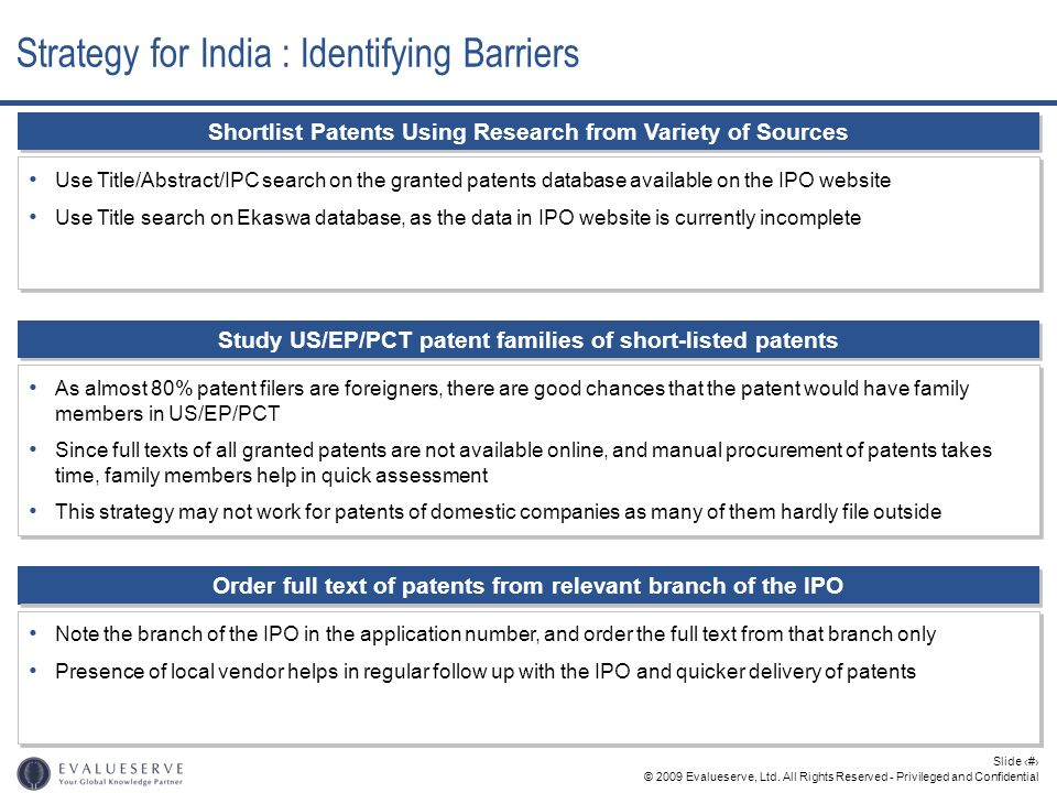 Strategy for India : Identifying Barriers