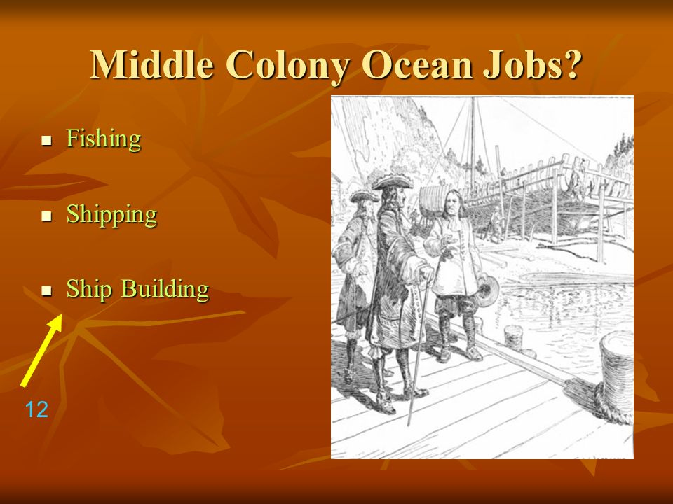 Middle Colony Ocean Jobs