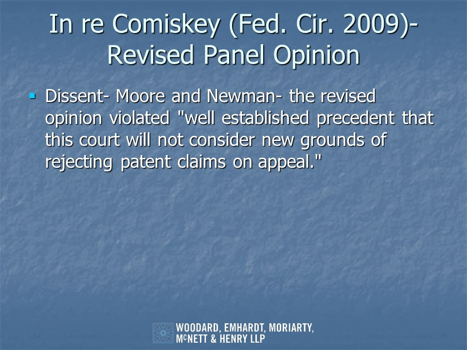 In re Comiskey (Fed. Cir. 2009)- Revised Panel Opinion