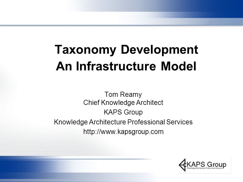 Taxonomy Development An Infrastructure Model