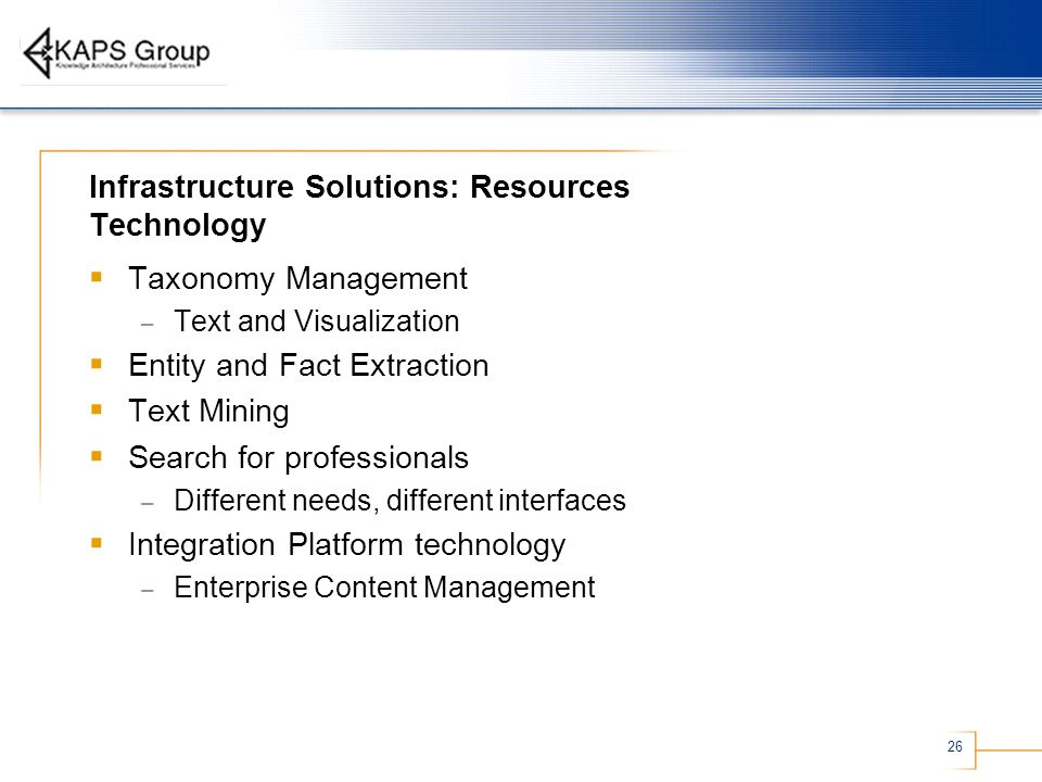 Infrastructure Solutions: Resources Technology