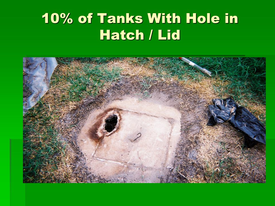 10% of Tanks With Hole in Hatch / Lid