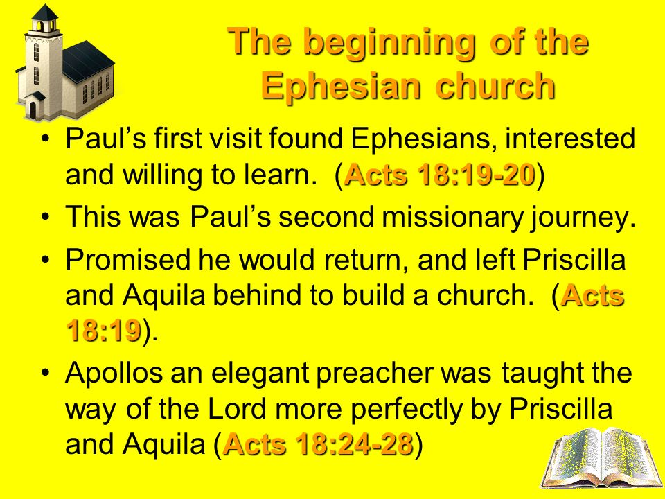 The beginning of the Ephesian church