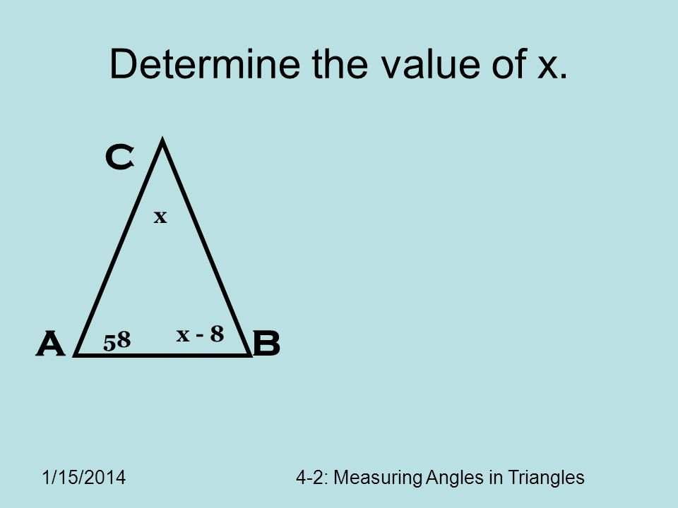 Determine the value of x.