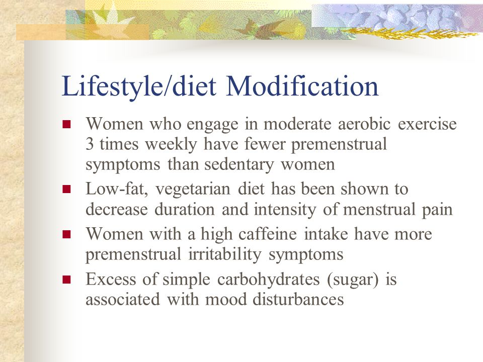 Lifestyle/diet Modification