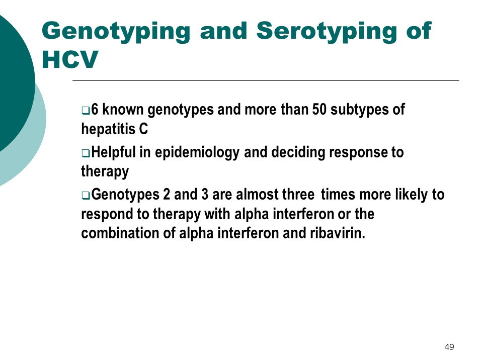 Genotyping and Serotyping of HCV