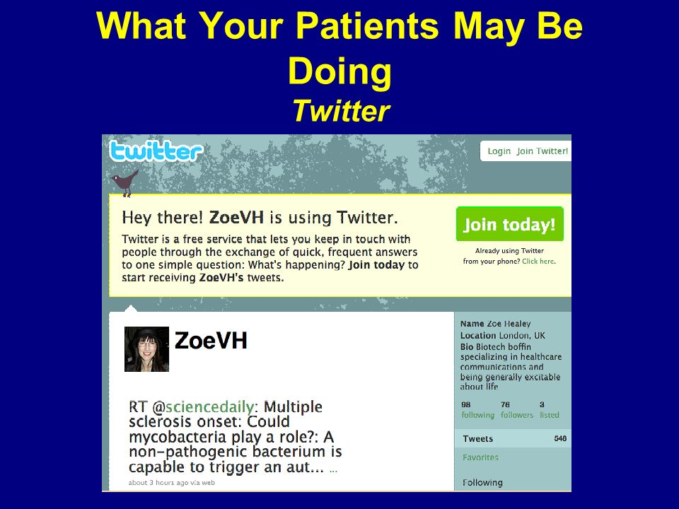 What Your Patients May Be Doing Twitter
