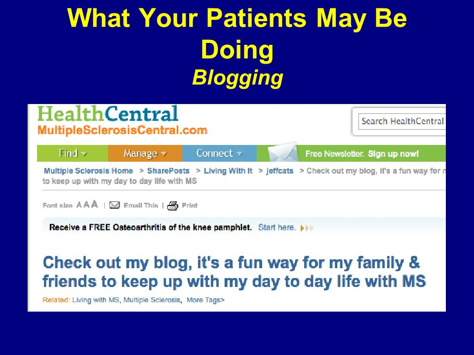 What Your Patients May Be Doing Blogging