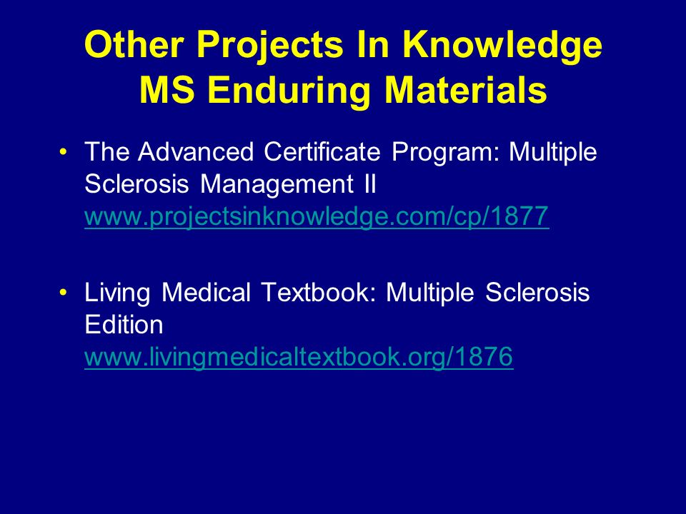 Other Projects In Knowledge MS Enduring Materials