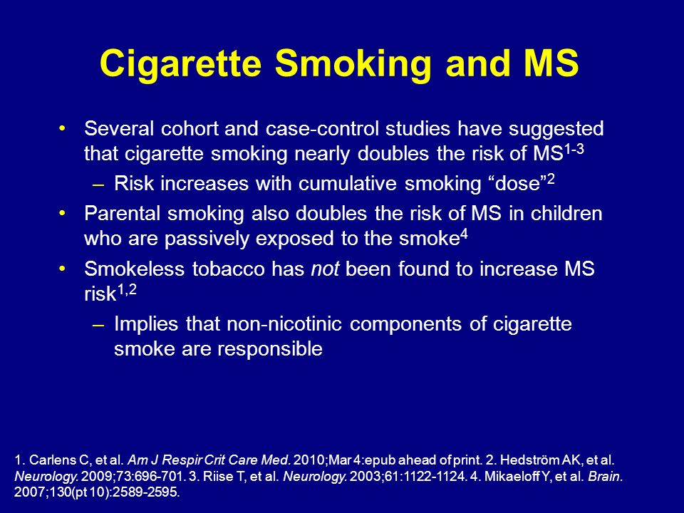 Cigarette Smoking and MS