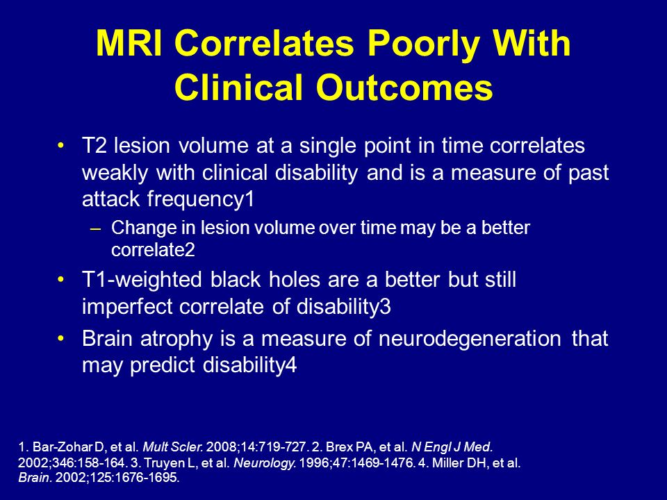 MRI Correlates Poorly With Clinical Outcomes