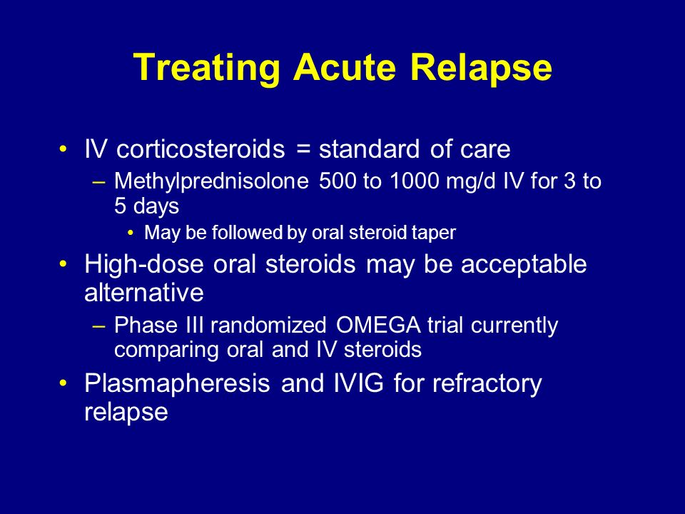 Treating Acute Relapse