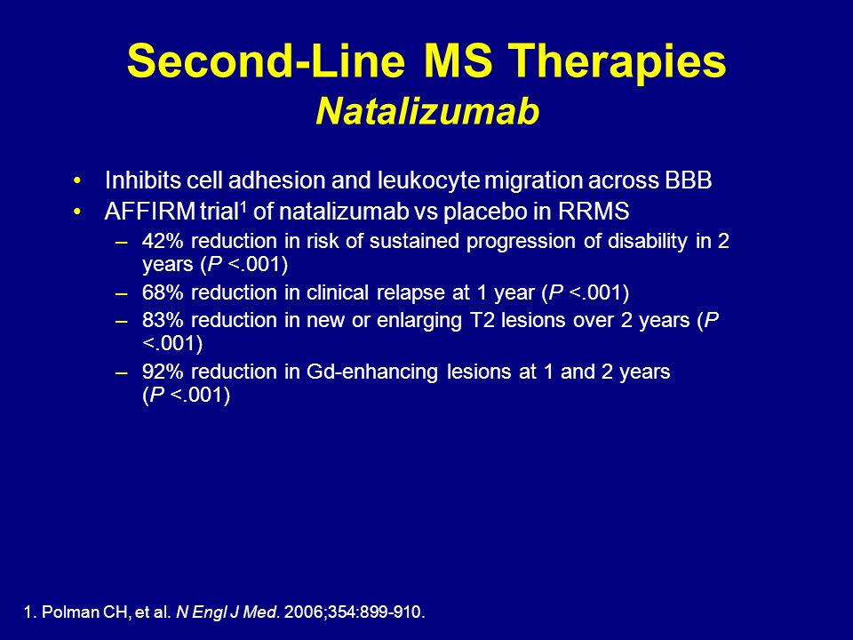 Second-Line MS Therapies Natalizumab