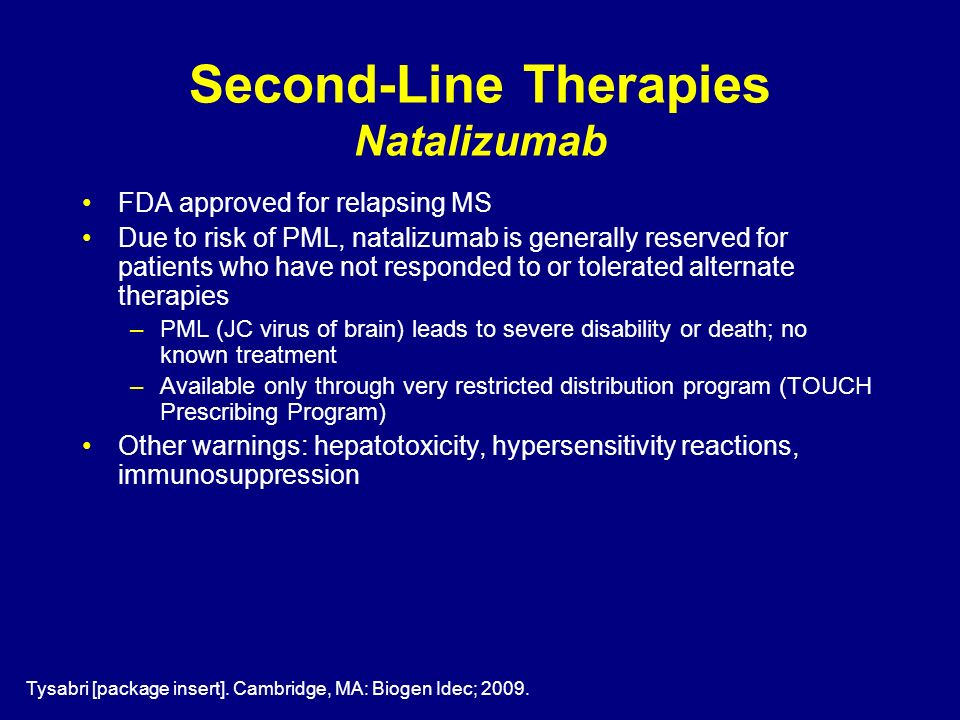 Second-Line Therapies Natalizumab