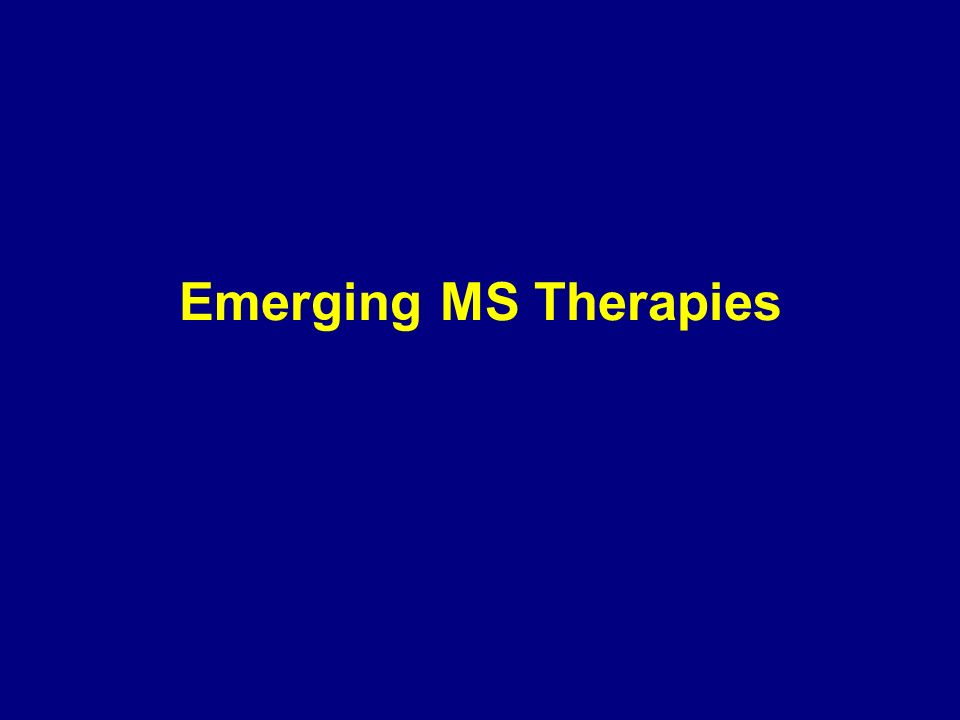 Emerging MS Therapies 88