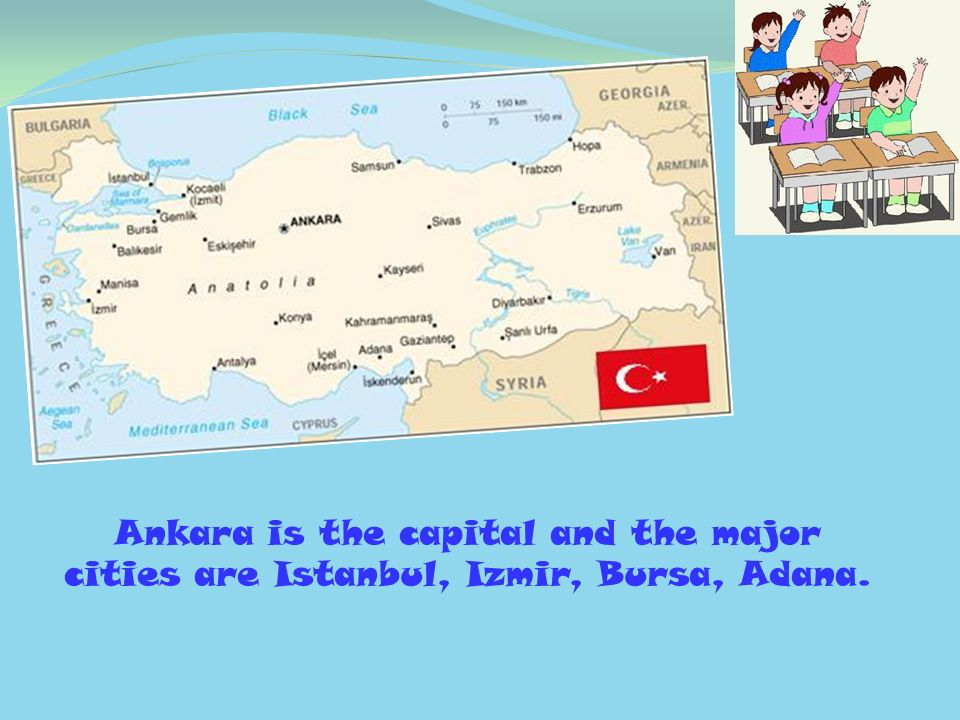 Ankara is the capital and the major