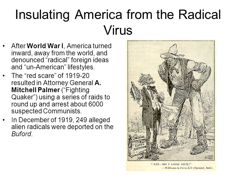 Insulating America from the Radical Virus