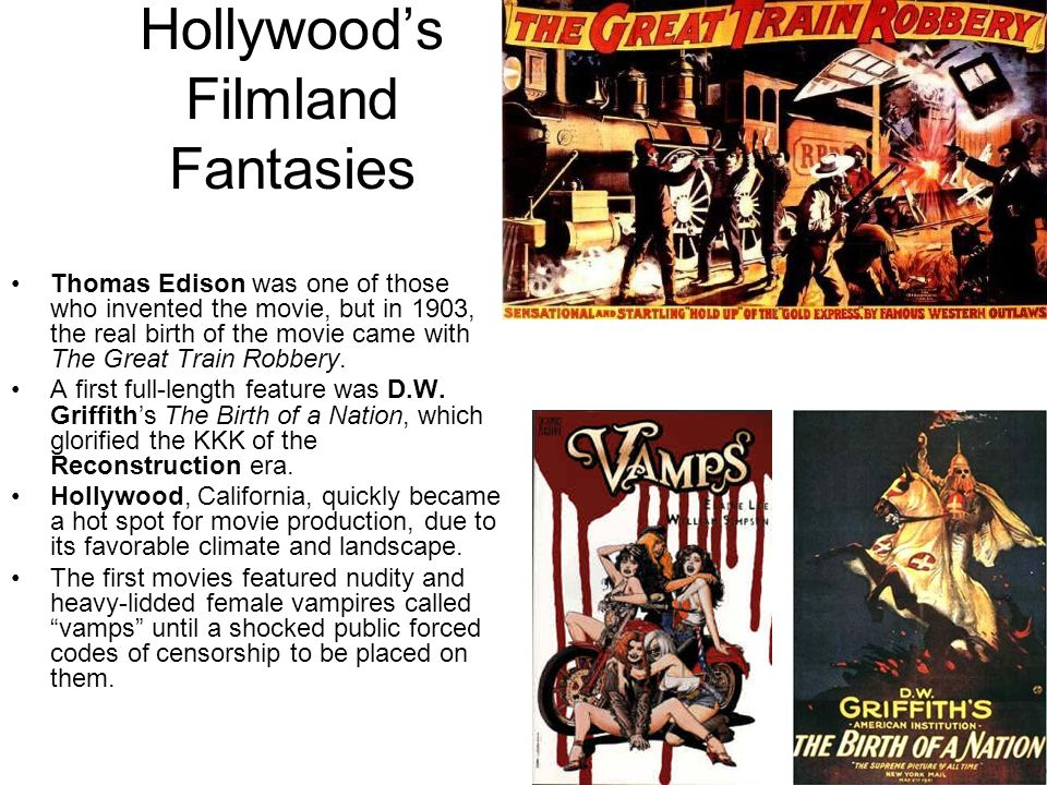 Hollywood's Filmland Fantasies