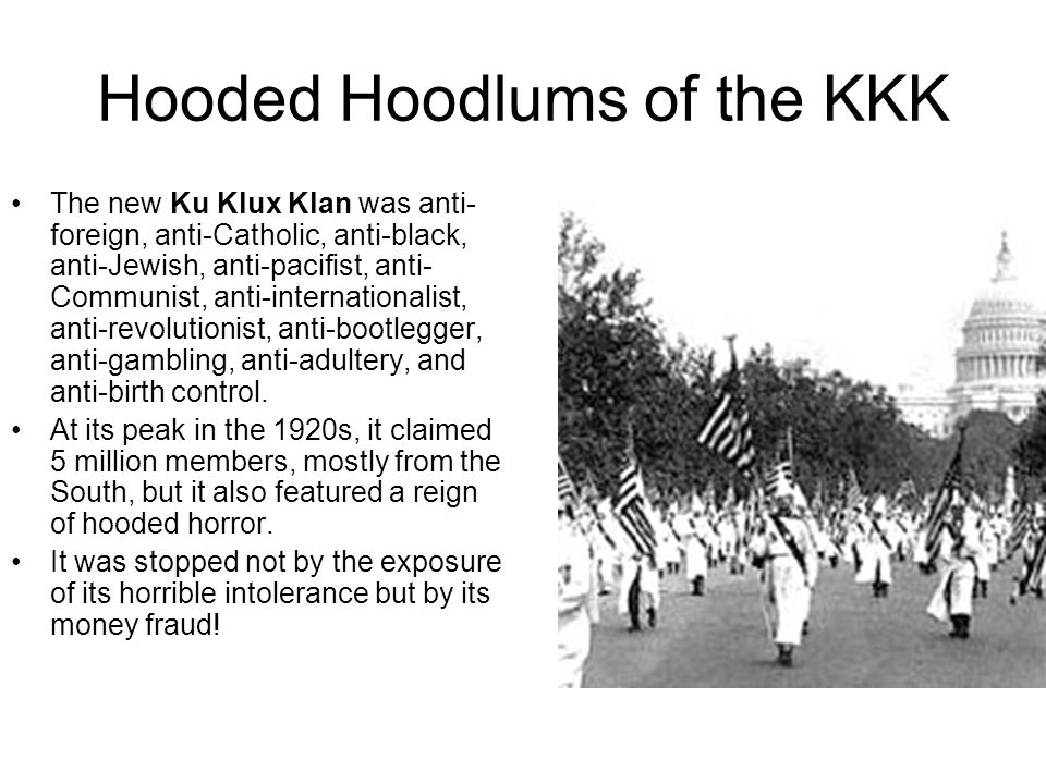Hooded Hoodlums of the KKK