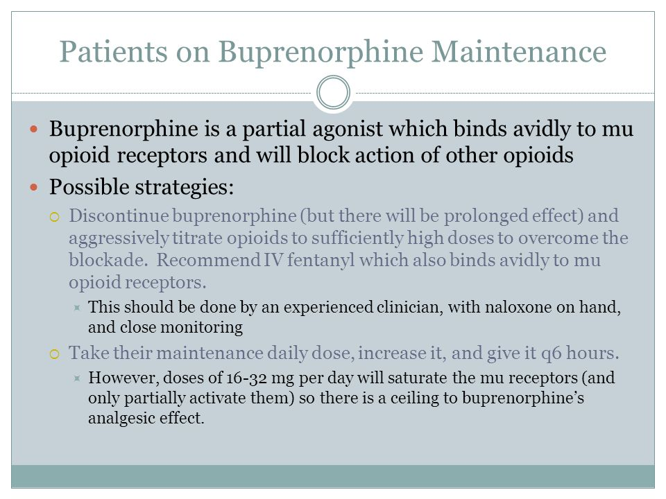 Patients on Buprenorphine Maintenance