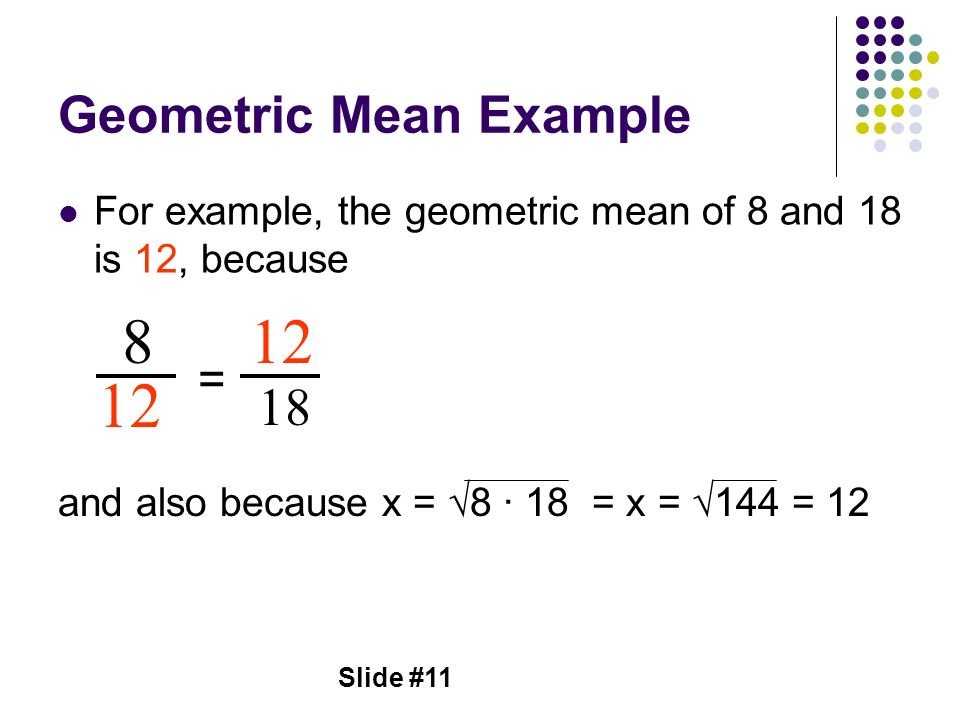 Geometric Mean Example