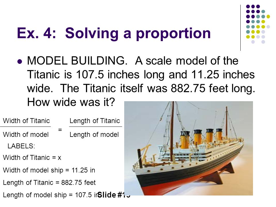 Ex. 4: Solving a proportion