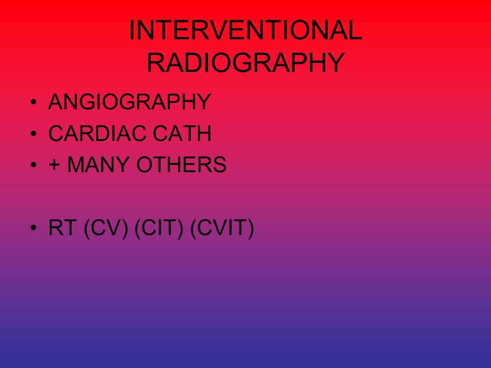 INTERVENTIONAL RADIOGRAPHY