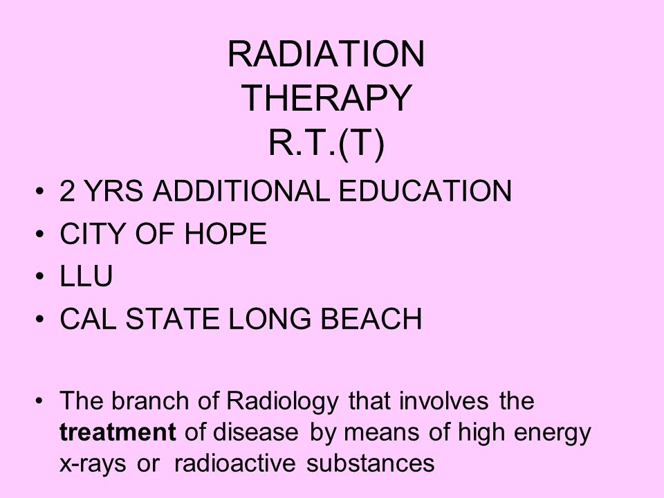 RADIATION THERAPY R.T.(T)