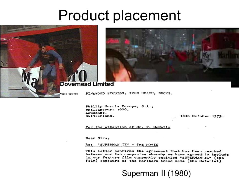 Product placement Superman II (1980)