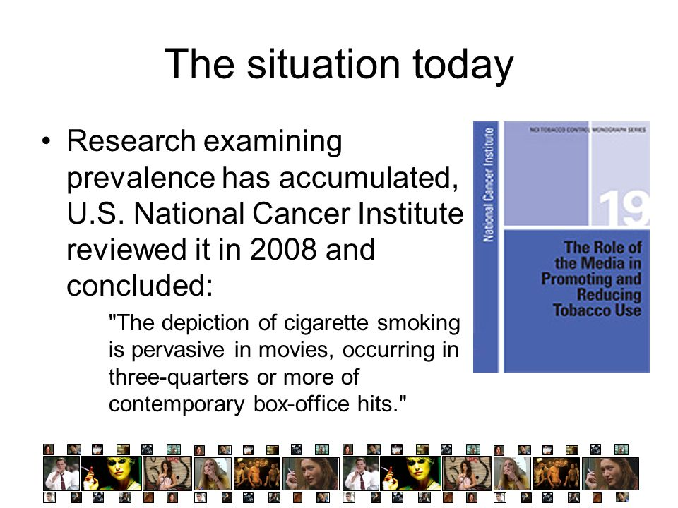 The situation today Research examining prevalence has accumulated, U.S. National Cancer Institute reviewed it in 2008 and concluded: