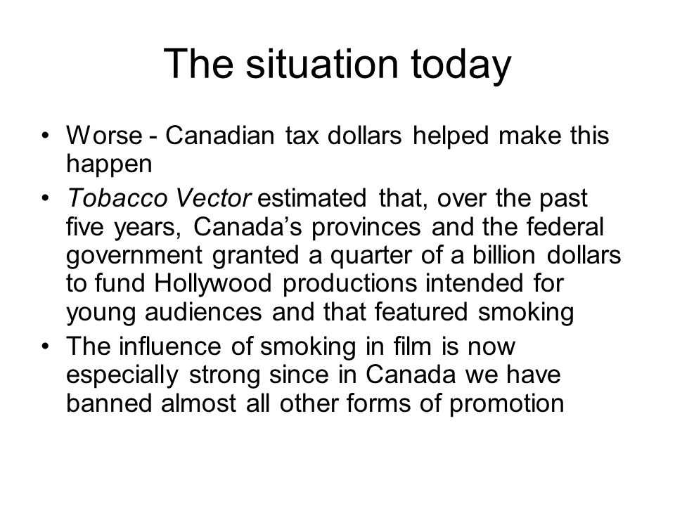 The situation today Worse - Canadian tax dollars helped make this happen.
