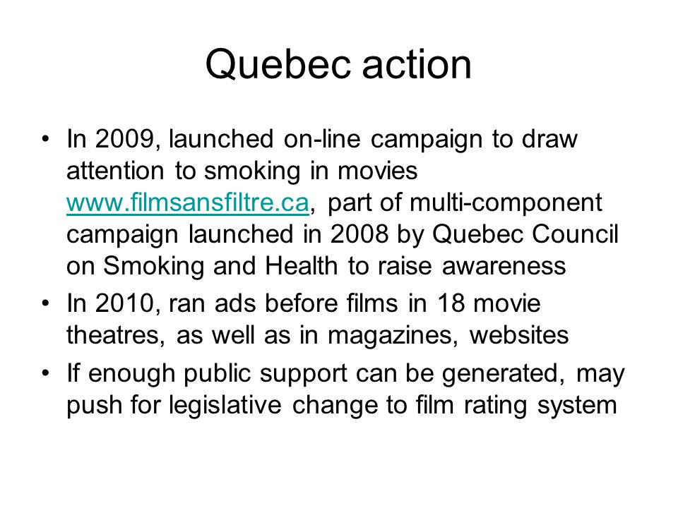 Quebec action